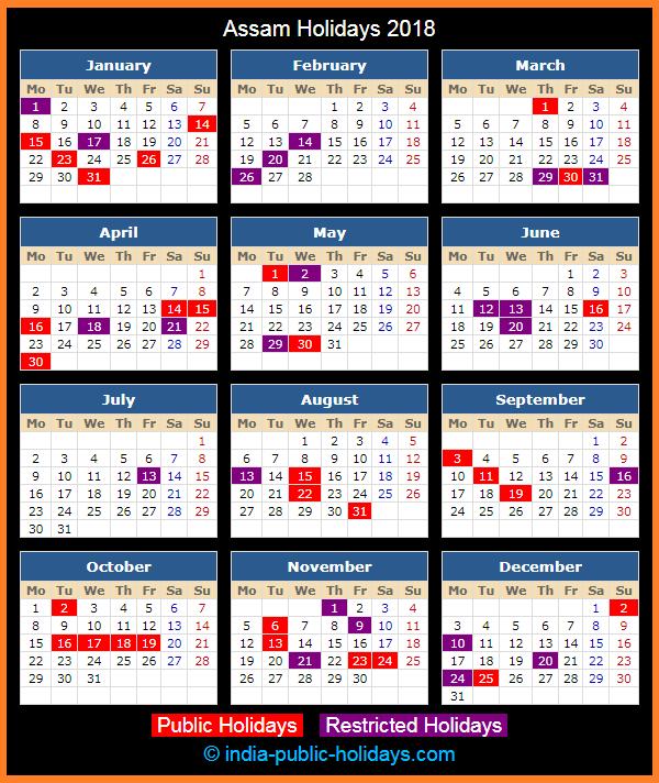 Assamese Calendar October 2019