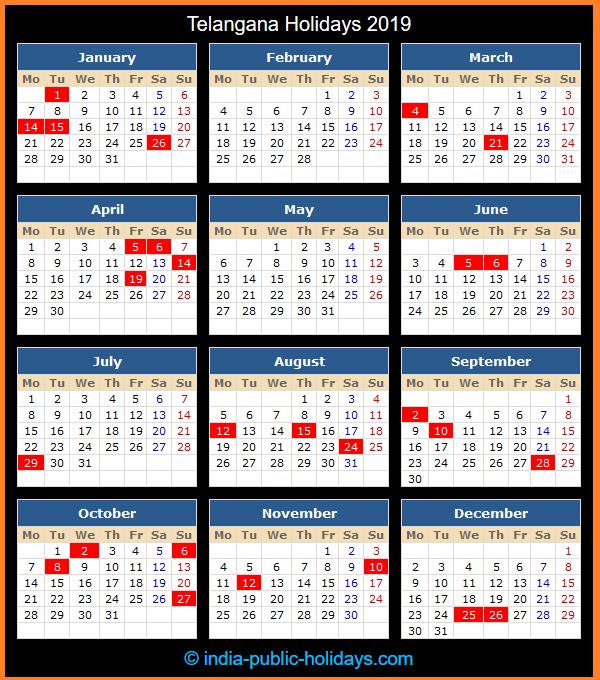 Holiday Calendar 2019 Assam 13